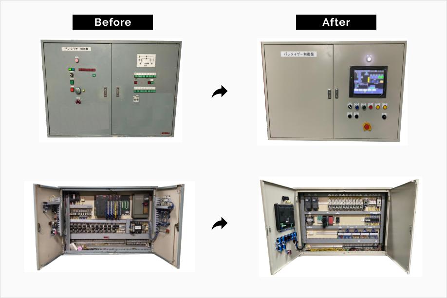 制御盤の改良例